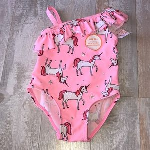 Just one you unicorn bathing suit size 3 months